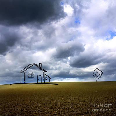 Ploughed Photograph - Agriculture Landscape by Bernard Jaubert