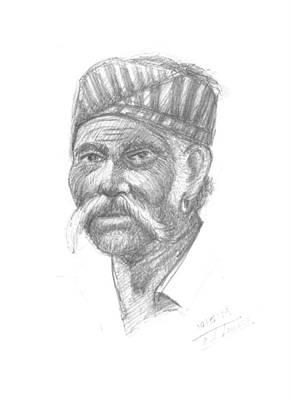 Drawing - Agriculture Men by Prakash Leuva