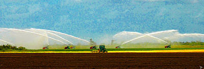 Soil Digital Art - Watering The Land by David Lee Thompson