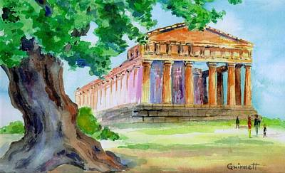 Painting - Agrigento Temple by Kathleen  Gwinnett