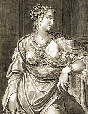 Agrippina Wife Of Tiberius Print by Aegidius Sadeler or Saedeler