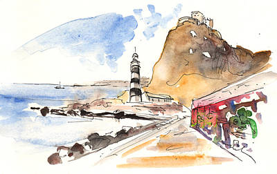 Lighthouse Drawing - Aguilas 01 by Miki De Goodaboom
