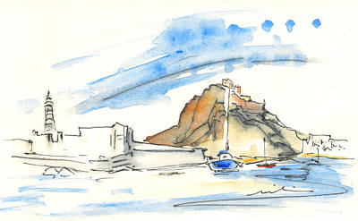 Lighthouse Drawing - Aguilas 02 by Miki De Goodaboom