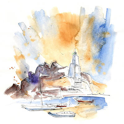 Lighthouse Drawing - Aguilas 03 by Miki De Goodaboom