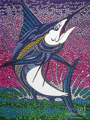 Swordfish Drawing - Aguja Azul by Andrea Barrett