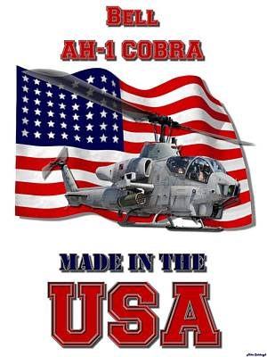 Made In The Usa Digital Art - Ah-1 Cobra Made In The Usa by Mil Merchant