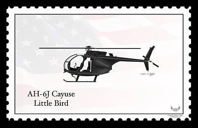 Ah-6j Cayuse Little Bird Art Print by Arthur Eggers