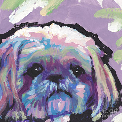 Dog Pop Art Painting - Ah Shitzy by Lea S