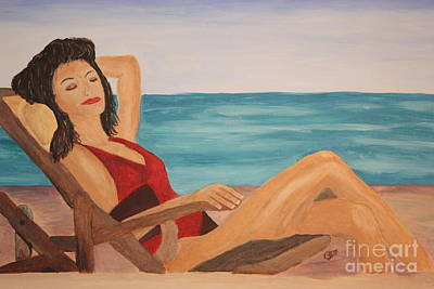 Ah The Smell Of The Sea Original by Christine Dekkers