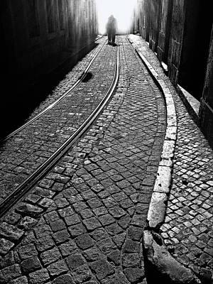 Sidewalk Photograph - Ahead Of Me by Bj Yang
