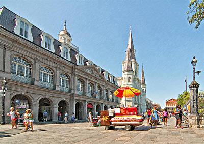Hot Dogs Photograph - Ahh...new Orleans Sketch by Steve Harrington