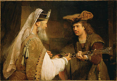 Giving Painting - Ahimelech Giving The Sword Of Goliath To David Aert De by Litz Collection