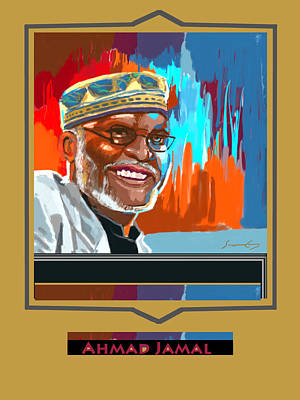 Painting - Ahmad Jamal Pianist Poster by Suzanne Giuriati-Cerny