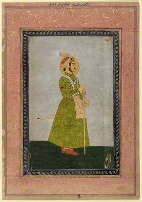 Gold Dress Photograph - Ahmad Shah by British Library
