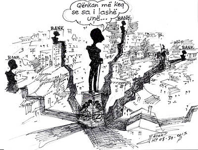 Ahmet Zogu Hijet Mbreterore Ne Tirane  Art Print by Ylli Haruni