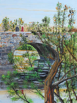 Jack Brauer Painting - Ahnapee River Crossing by Jack G  Brauer