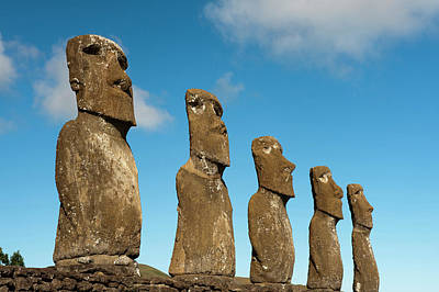 Ahu Akivi, Rapa Nui, Easter Island Art Print