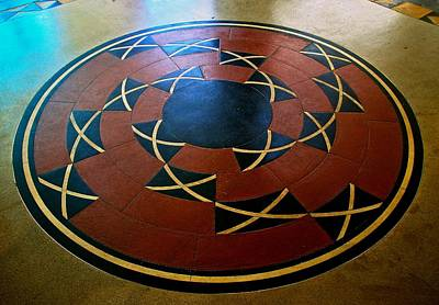 Photograph - Ahwahnee Hotel Floor Medallion by Eric Tressler