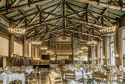 Photograph - Ahwahnee Dining Room by Maria Coulson