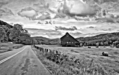 Autumn Photograph - Ah...west Virginia Oil Bw by Steve Harrington