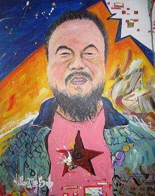 Painting - Ai Weiwei by Erik Franco