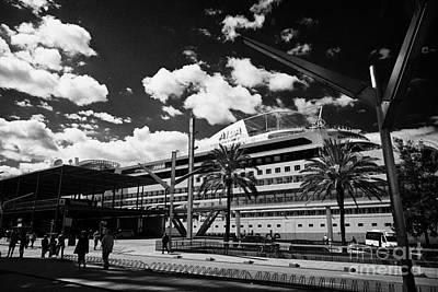 Aida Photograph - Aida Cruise Ship At Terminal S Of The Moll De Barcelona Catalonia Spain by Joe Fox