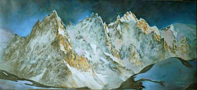 Chamonix Painting - Aiguiles De Chamonix by Danielle Arnal