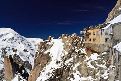 Aiguille Du Midi -  Mont Blanc Massif Art Print by Antonio Scarpi