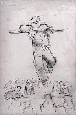 Ailurophobia Art Print by H James Hoff