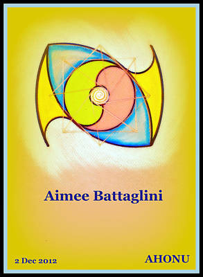 Painting - Aimee Battaglini by Ahonu