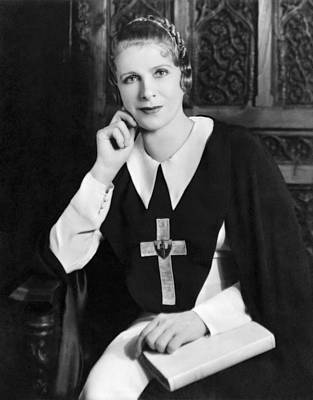 Photograph - Aimee Semple Mcpherson by Underwood Archives