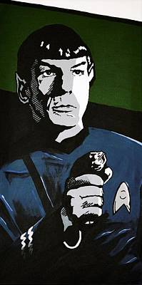 Aiming His Phaser Art Print by Judith Groeger