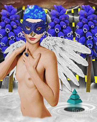 Angel Blues Digital Art - Aingeal by Keith Dillon