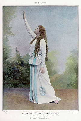 Aino Ackte  Finnish Opera Singer, Seen Art Print by Mary Evans Picture Library
