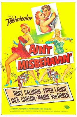1955 Movies Photograph - Aint Misbehavin, Us Poster, Inset Piper by Everett