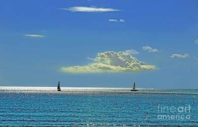 Art Print featuring the photograph Air Beautiful Beauty Blue Calm Cloud Cloudy Day by Paul Fearn