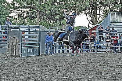 Rodeo Photograph - Air-born by Gary Keesler