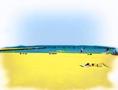 Lying Mixed Media - Air Brushed Lakeshores by Skyler Tipton