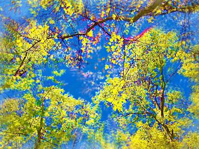 Air Brushed Spring Trees Art Print