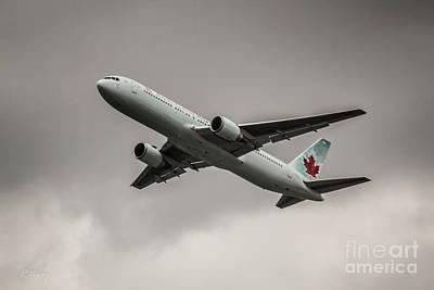 Air Canada Boeing 767 Monochrome Art Print
