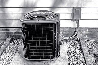 Compressor Photograph - Air Conditioner Fan by Olivier Le Queinec