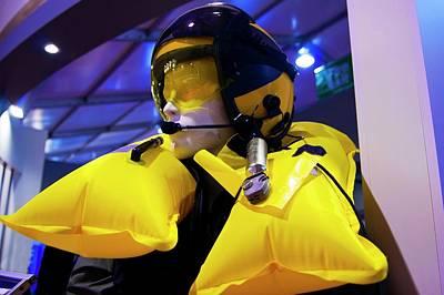 Inflatable Photograph - Air Crew Flotation Collar. by Mark Williamson