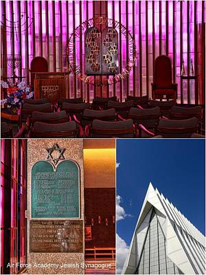 Photograph - Air Force Academy Jewish Synagogue Collage by Allen Beatty