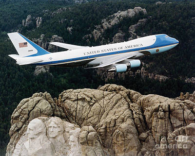 President Of The United States Of America Painting - Air Force One by Celestial Images