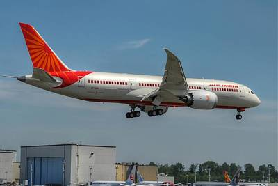 Art Print featuring the photograph Air India 787 by Jeff Cook