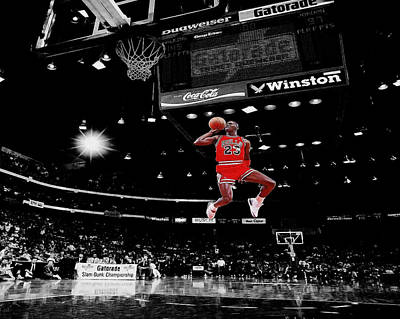 Celebrities Photograph - Air Jordan by Brian Reaves