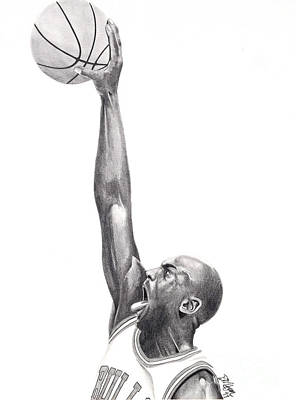 Drawing - Air Jordan by Devin Millington