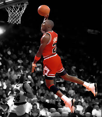 Patrick Ewing Digital Art - Air Jordan I Believe I Can Fly by Brian Reaves