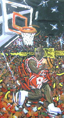 Michael Jordan Painting - Air Jordan by Matt Umthun