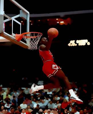 Patrick Ewing Digital Art - Air Jordan Reverse Slam by Brian Reaves